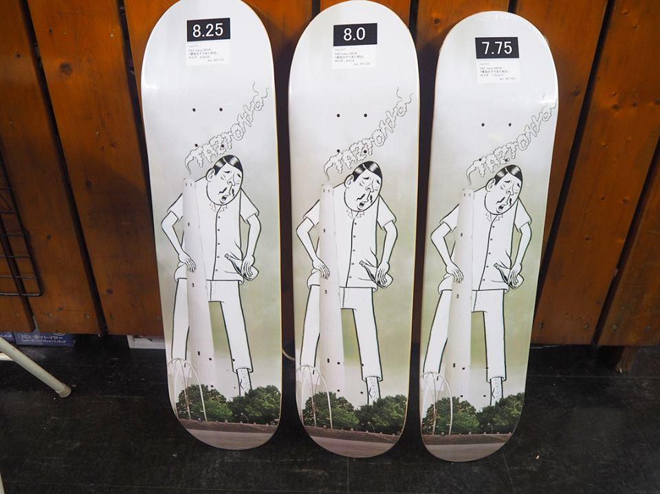TAZtokyo「煙突の下でまた明日」新作スケートボードデッキ入荷しました。